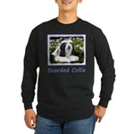 Bearded Collie (Painting) Long Sleeve Dark T-Shirt