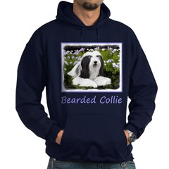 Bearded Collie (Painting) Hoodie (dark)