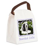Bearded Collie (Painting) Canvas Lunch Bag