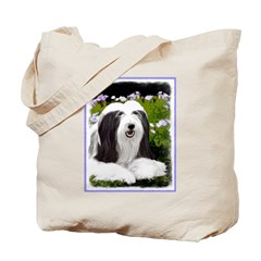 Bearded Collie (Painting) Tote Bag