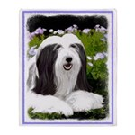 Bearded Collie (Painting) Throw Blanket