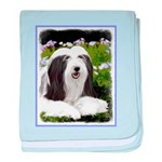 Bearded Collie (Painting) baby blanket