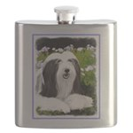 Bearded Collie (Painting) Flask