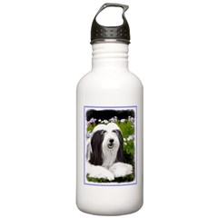 Bearded Collie (Painti Water Bottle