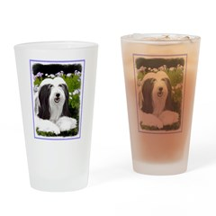 Bearded Collie (Painting) Drinking Glass