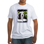 Bearded Collie (Painting) Fitted T-Shirt