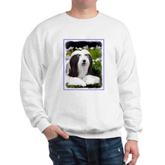 Bearded Collie (Painting) Sweatshirt