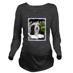 Bearded Collie (Pain Long Sleeve Maternity T-Shirt
