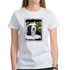 Bearded Collie (Pain Women's Classic White T-Shirt