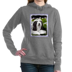 Bearded Collie (Painting Women's Hooded Sweatshirt