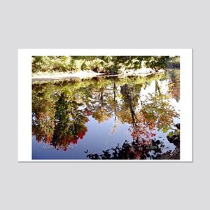 Autumn Reflections... Mini Poster Print
