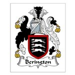 Berington Family Crest Small Poster