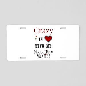 Neopolitan Mastiff Aluminum License Plate