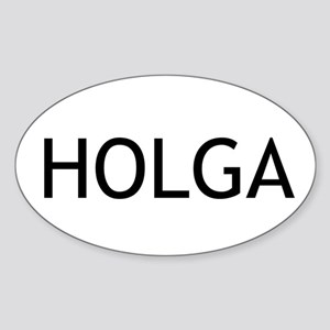 Holga Euro Oval Sticker
