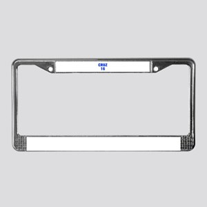 Cruz 16-Akz blue 500 License Plate Frame