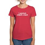 I Survived Catholic School Women's Dark T-Shirt