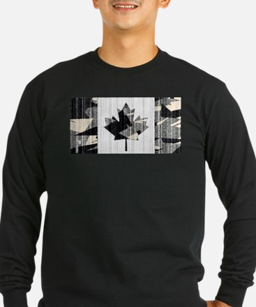 Canadian Flag Naval Ocean Camo Long Sleeve T-Shirt