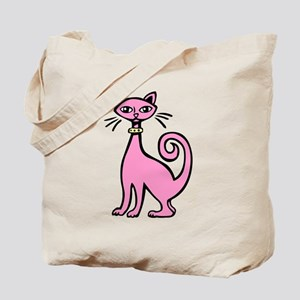 Retro Cat Tote Bag
