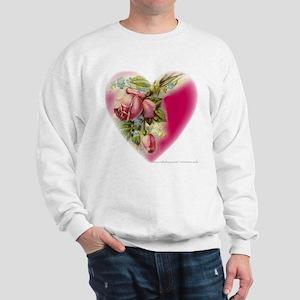 Victorian Flower Heart Sweatshirt