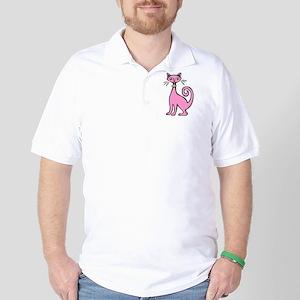 Retro Cat Golf Shirt