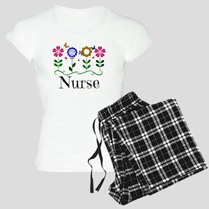 Nurse, pretty graphic flowe Women's Light Pajamas