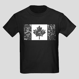 Canadian Flag Rocks & Ice & Mountain Camo T-Shirt
