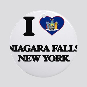 I love Niagara Falls New York Ornament (Round)
