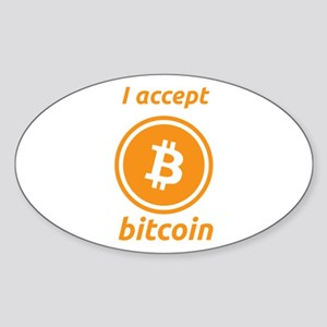 I accept bitcoin Sticker