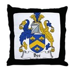 Bee Family Crest  Throw Pillow