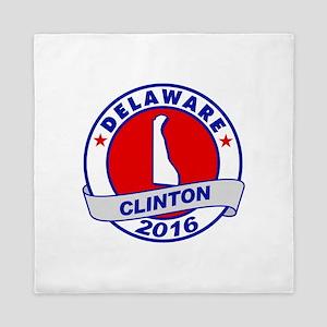 delaware Hillary Clinton 2016 Queen Duvet