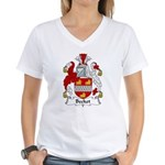 Becket Family Crest Women's V-Neck T-Shirt