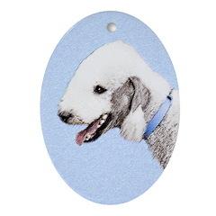Bedlington Terrier Oval Ornament
