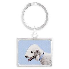 Bedlington Terrier Landscape Keychain