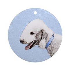 Bedlington Terrier Round Ornament