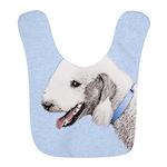 Bedlington Terrier Polyester Baby Bib