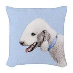 Bedlington Terrier Woven Throw Pillow