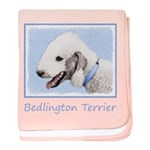 Bedlington Terrier baby blanket