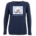 Bedlington Terrier Plus Size Long Sleeve Tee