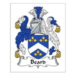 Beard Family Crest Small Poster