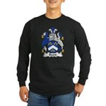 Beard Family Crest Long Sleeve Dark T-Shirt