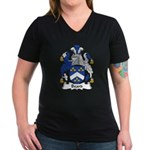Beard Family Crest Women's V-Neck Dark T-Shirt
