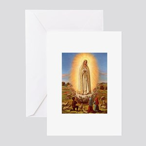 Virgin Mary - Fatima Greeting Cards