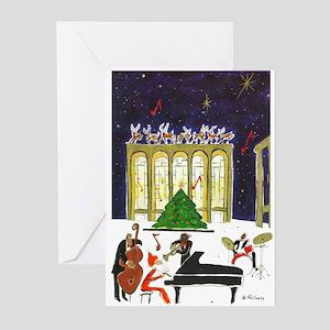 Santa's Jam Lincoln Center Greeting Cards 20 P