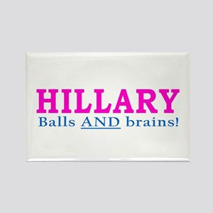 Hillary Balls and Brains Rectangle Magnet