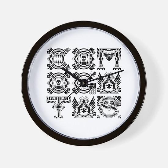 CG Logo Native Black Wall Clock