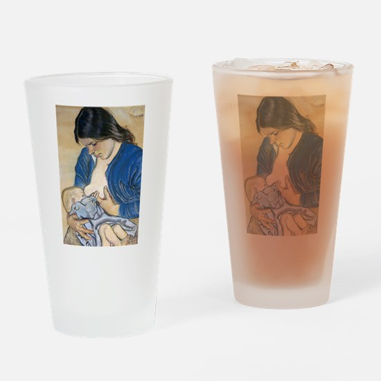 Motherhood Drinking Glass