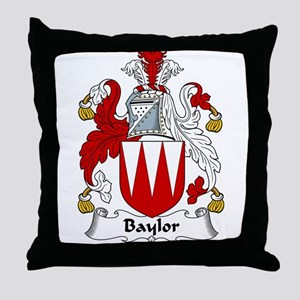 Baylor Family Crest Throw Pillow