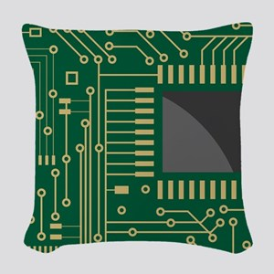 Motherboard 2 Woven Throw Pillow