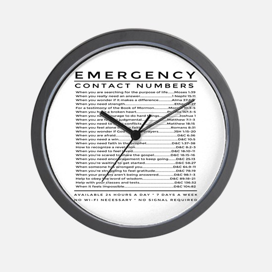 bible emergency number Wall Clock