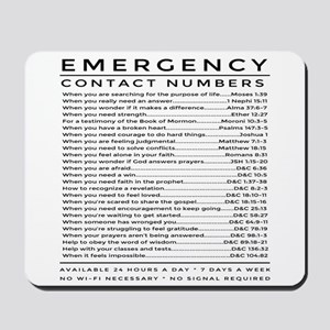 bible emergency number Mousepad